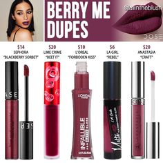 Dose of colors liquid lipstick dupes in the shade Berry me // Kayy Dubb ♡