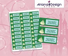 exclusive designs for invitations, party kits and labels by ArianaDesignStore Princesa Tiana, Kit, Address Labels, Etsy Seller, Printables, Invitations, Party, Design, Toad