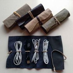Your place to buy and sell all things handmade Cord Holder, Cord Organization, Cable Organizer, Leather Accessories, Leather Cord, Gifts For Him, Usb, Buy And Sell, This Or That Questions