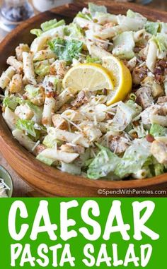 Chicken Caesar Pasta Salad is the perfect dish for summer. Tender pasta tossed with traditional Caesar Salad ingredients in a creamy garlic lemon dressing this meal is both  flavorful and filling. I love that can be made ahead of time and served on the hottest of days, offering relief from the heat of the oven!