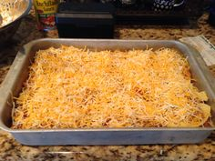 Venison enchilada casserole:  brown 1lb venison, mix together venison, one can cream of mushroom soup, one can cream of chicken soup, one can enchilada sauce, one can corn.  Layer in baking dish, meat mixture and corn tortillas beginning and ending with mixture. Top with 2c shredded cheese.  Cook in oven for 30-40 minutes 350 degrees