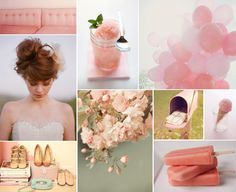 love the blush color with grey and lilac
