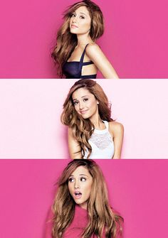 Ariana Grande photoshoot 2014... not so fond of the 1st one but luv the 2nd and 3rd
