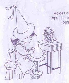 Lindas bruxinhas para colorir ou pintar