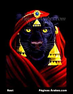 Bastet es la diosa guardiana del hogar y se la asocia a la fecundidad amorosa y a los poderes benéficos del sol.
