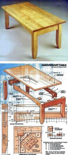 Coffee Table Plan - Furniture Plans and Projects   WoodArchivist.com