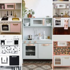 IKEA Duktig keukentje pimpen - Vettt Ikea Childrens Kitchen, Ikea Toy Kitchen, Toddler Kitchen, Wooden Play Kitchen, Kitchen Redo, Kitchen Hacks, Kitchen Cabinets, Kitchen Appliances, Duktig