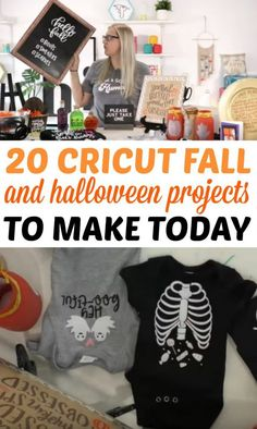 You are going to LOVE these 20 Cricut Fall and Halloween  Projects we have for you to make today! We just released a new cut file  collection and it is amazing. You're going to be so excited to see all of the  options available for your die cutting projects.  #cricut  #diecutting #diecuttingmachine #cricutmachine #cricutmaker #diycricut  #cricutideas #cutfiles #svgfiles #diecutfiles #diycricutprojects  #cricutprojects #cricutcraftideas #diycricutideas Fall Crafts For Kids, Diy Crafts To Sell, Diy Crafts For Kids, Sell Diy, Kids Diy, Simple Crafts, Fall Projects, Craft Projects, Project Ideas