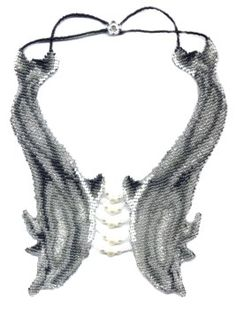 Diving Dolphins Weave Necklace : Beading Patterns and kits by Dragon!, The art of beading.