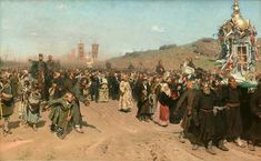 Canvas Art Krestny Khod (Religious Procession) in Kursk Gubernia - Oil Painting Paintings Reproduction Reproductions Handpainted hand painted art canvas canvases Ilya Repin, Russian Painting, Russian Art, Oil Canvas, Canvas Art, Christian Paintings, Google Art Project, Russian Orthodox, Great Paintings