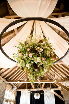 Barn decor ideas - this would work awesomely for the chandeliers at the farm