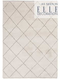 Inspired by traditional Berber designs, our Caliana rug has been hand tufted from 100% wool with a simple brown taupe diamond design. This Moroccan inspired rug features a deep-pile for added comfort and style, making it ideal for even the busiest areas of your home.