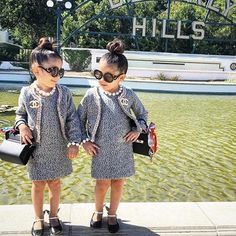 These cuties are in the hood @theroyaltwins #ptbaby #fashionablebabies #chanel #beverlyhills
