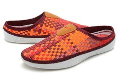 2014 Mens Nike Free Red Orange Weave Slippers      #red  #shoes