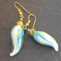 Belles boucles d'oreille perles murano faites main bcl.2499