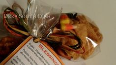 Guest Favor - give to your guests to serve as a reminder of exactly what the Thanksgiving holidays are all about.