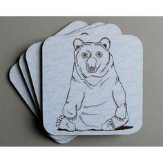 Mr Brown Bear Coaster from notonthehighstreet.com