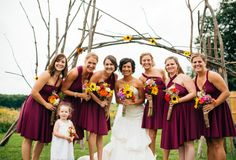 When warm colors are paired together, like sunflower and burgundy, they can turn any celebration into a welcoming affair! Take for instance Hannah and...