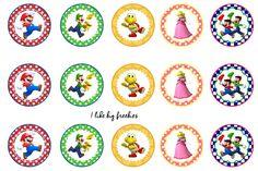 I like big freebies: Super Mario Bros bottlecap images Bottle Cap Jewelry, Bottle Cap Necklace, Bottle Cap Art, Bottle Cap Images, Super Mario Birthday, Mario Birthday Party, Super Mario Party, Super Mario Bros, 7th Birthday