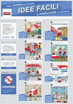 A poster for all the Italian Brico Centers with simple social media tips. The research has been done by the client's marketing team, we delivered an infographic that follows the client's brand identity while being coherent with the channel.