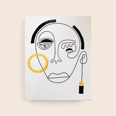 Kellan ~ Children of A Bleeding Sun 🖤 available online (link in bio) Simple Line Drawings, Unique Drawings, Art Drawings, Abstract Face Art, Folk Art Flowers, Hippie Art, Doodle Art, Cute Art, New Art