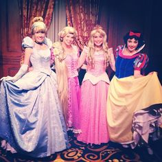 Love seeing my princess friends at the Princess Fairytale Hall