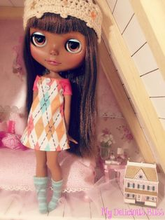 Black Blythe Custom by My Delicious Bliss. OMG such a gorgeous girl!!