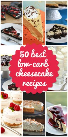 50 best low-carb cheesecake recipes