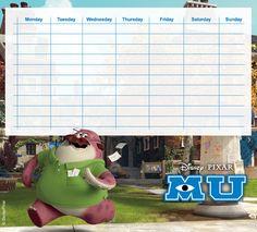 Walt Disney, Disney Pixar, Monster University, Monsters Inc, Bookmarks, Printables, Lettering, Education, Godchild