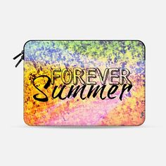 """""""Forever Summer"""" by Artist Julia Di Sano, Ebi Emporium on @casetify  Fine Art Abstract Acrylic Painting Fun Rainbow Pastel Orange Pink Peach Green Typography YOLO Beach Multicolor Ocean Waves Splash Neon Ombre Pattern Summer Colorful Tech Macbook Laptop Sleeve #art #fineart #rainbow #colorful #neon #typography #summer #yolo #foreversummer #ocean #waves #splash #macbookpro #macbookair #sleeve #macbook #chic #ombre #painting #techdevice #tech #MacbookCover #pattern  Get $10 off using code…"""