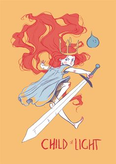 Child of Light by Nuria Tamarit, via Behance - #illustration #ginger