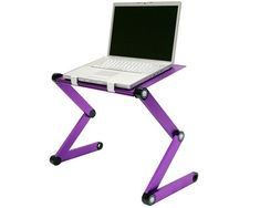 Adjustable Cooler Fan Notebook Laptop Table Portable Bed – $59