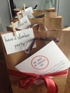 slumber party kits: a #birthday #diy