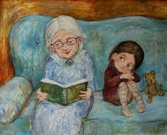 20 paintings by the artist Nino Chakvetadze, from which it becomes warm and cozy in my soul Grandmother Quotes, Grandma Sayings, Reading Art, I Love Books, Warm And Cozy, Book Lovers, Book Worms, Book Art, Modern Art