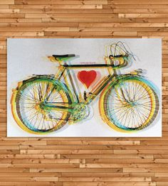 I Love You Bicycle Art Print | Art Prints | Urban Octopus | Scoutmob Shoppe | Product Detail
