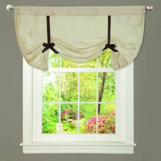 @Overstock - Pretty as can be, this Lush Decor valance features beige faux silk with black accents creating a sophisticated and versatile style for any room. Contrast tie-up gives this valance an added elegance and timeless appeal.http://www.overstock.com/Home-Garden/Lush-Decor-Lydia-Beige-Valance/7356928/product.html?CID=214117 $27.99