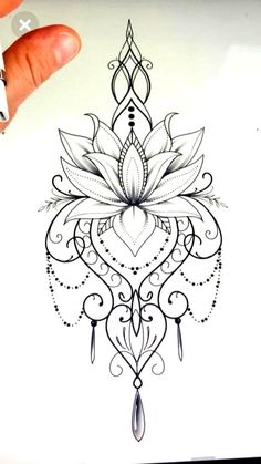 Mandala design tattoo - Would love this as a temp on my ster.- Mandala design tattoo – Would love this as a temp on my sternum Mandala design tattoo – Would love this as a temp on my sternum – Today Pin - Mandala Tattoo Design, Thigh Tattoo Designs, Flower Tattoo Designs, Tattoo Flowers, Lotus Mandala Tattoo, Henna Designs, Lotus Flower Tattoos, Lotus Flowers, Drawing Flowers