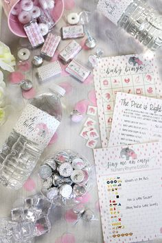 Are you hosting a pink elephant baby shower? These sweet little peanut decorations and favors are perfect for your baby girl elephant shower! This collection has games, water bottle labels, and favor stickers! Elephant Baby Shower Centerpieces, Elephant Baby Shower Favors, Baby Girl Elephant, Baby Shower Purple, Baby Girl Shower Themes, Girl Baby Shower Decorations, Baby Shower Princess, Elephant Baby Showers, Baby Shower Invites For Girl