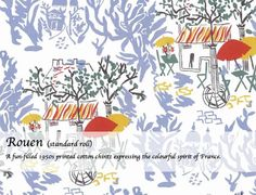 The Warner Textile Archive is Britain's second largest collection of flat textiles spanning over two centuries. This 'Rouen' wallpaper is taken from a French printed cotton of the Textile Patterns, Textile Design, Textiles, New Wallpaper, New Pins, Repeating Patterns, Surface Pattern, Printed Cotton, Archive