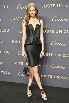 The Best Little Black Dresses of 2012 - Karlie Kloss in Cushnie et Ochs