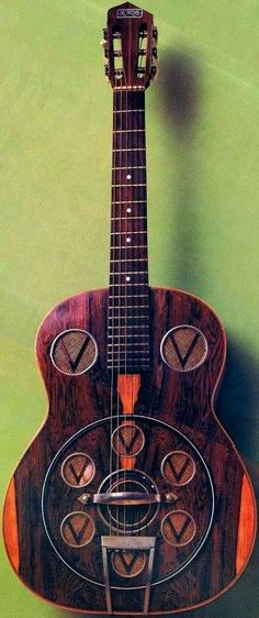frettedchordophones: Del Vecchio Vibrante Guitar (its a kind of Resonator Guitar that the Brazilians invented that didnt break any copyright laws held by National or Dobro) = Lardys chordophone of the day - a year ago --- https://www.pinterest.com/lardyfatboy/