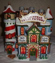LEMAX-VILLAGE-SANTAS-WONDERLAND-CHRISTMAS-CANDY-FACTORY-LIGHTED-HOUSE-2000