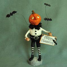 Polymer Clay Pumpkin Head Halloween