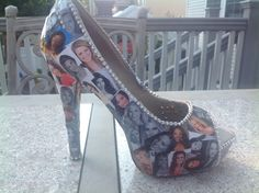 Miss America Parade shoes. All 53 contestants deco paged on shoes! 2014