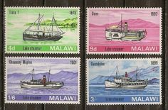 Malawi - Cat# 67-70 Unused Fine Hinged SCV $3.20 Ships - bidStart (item 34466748 in Stamps... Malawi) Boats, Stamps, Ship, Baseball Cards, Seals, Ships, Stamp, Stamping, Postage Stamps