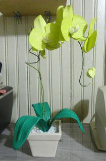 Herthal art's: orquídea verde de e.v.a Herthal art's