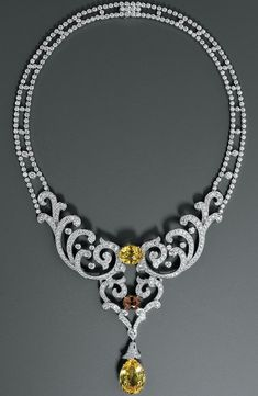 Cartier Diamond and Sapphire Necklace