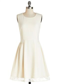 Maraschino Cheery Dress in Cream. From the surprise latte awaiting you on your desk this morning to the undeniable success of your afternoon presentation, its clear that today has been great. #gold #prom #modcloth