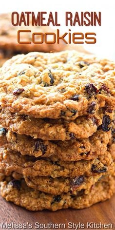 Cookie Recipes, Dessert Recipes, Desserts, Melissas Southern Style Kitchen, Oatmeal Raisin Cookies, Oatmeal Recipes, Southern Recipes, Holiday Baking, Cookie Jars