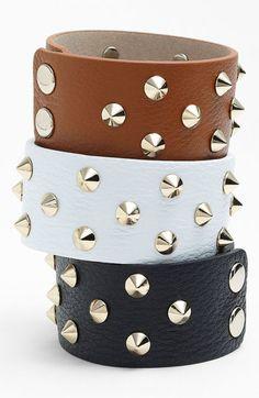 Cara Studded Leather Bracelet | Nordstrom